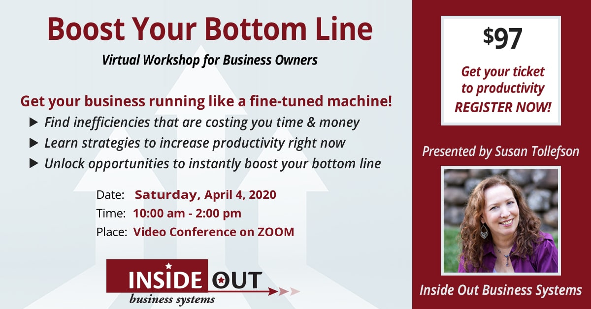 Boost Your Bottom Line event April 4, 2020