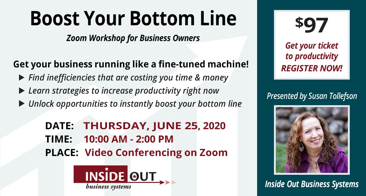 Boost Your Bottom Line event June 25, 2020
