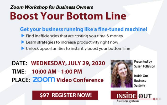 Boost your bottom line Zoom workshop July 20, 2020