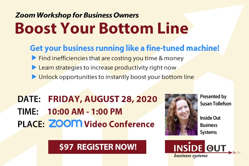 Boost Your Bottom Line Event August 2020