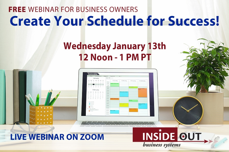Webinar 2021-01-13 Create your schedule for success